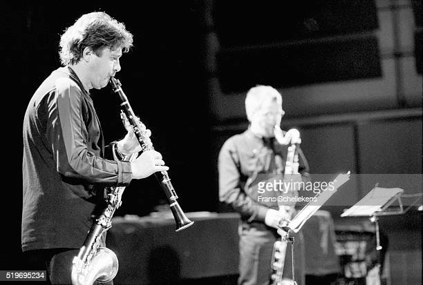 Louis Sclavis, clarinet, performs with Dutch clarinet player Harry Sparnaay on September 27th 1998 at the BIM huis in Amsterdam, Netherlands.