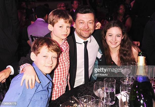 Louis Serkis Sonny Serkis actor Andy Serkis and Ruby Serkis attends the 17th Annual Critics' Choice Movie Awards held at The Hollywood Palladium on...