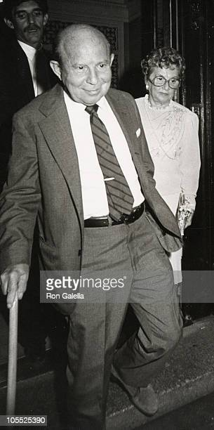 Louis Simon and Belle Simon during Paul Simon and Carrie Fisher Wedding August 16 1983 at Paul Simon's Central Park West Apartment in New York City...