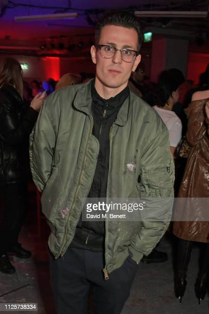 Louis Simonon attends the LOVE x The Store X party celebrating LOVE issue 21 supported by Perrier Jouet at The Store X on February 18 2019 in London...