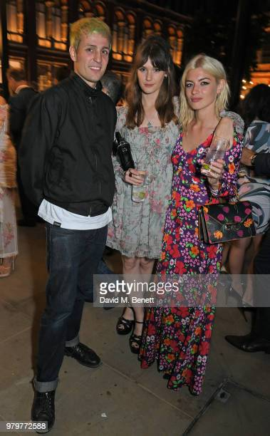 Louis Simonon Sai Bennett and Sydney Lima attend the Summer Party at the VA in partnership with Harrods at the Victoria and Albert Museum on June 20...