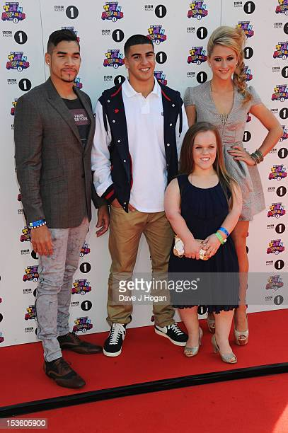 Louis Smith Adam Gemeli Ellie Simmonds and Laura Trott attend the BBC Radio 1 Teen Awards 2012 at Wembley Arena on October 7 2012 in London England