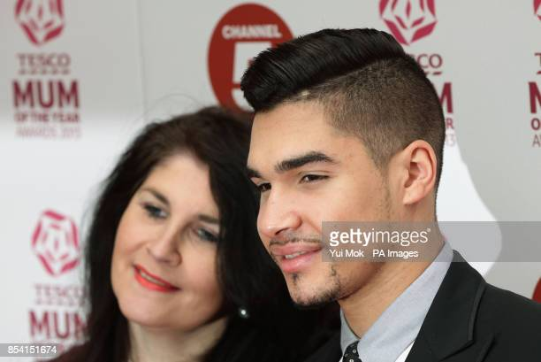 Louis Smith and his mother Elaine arriving for the Tesco Mum of the Year Awards at The Savoy hotel in central London
