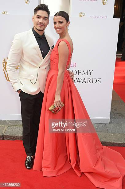 Louis Smith and Lucy Mecklenburgh attend the House of Fraser British Academy Television Awards at Theatre Royal Drury Lane on May 10 2015 in London...