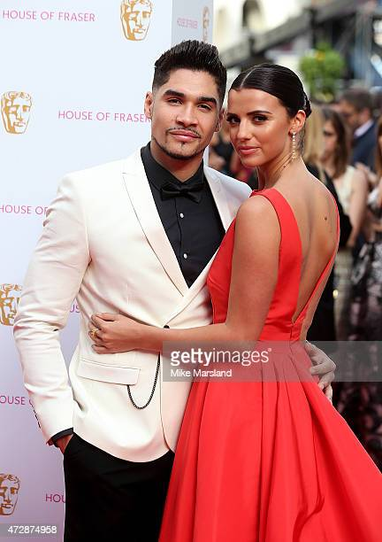 Louis Smith and Lucy Mecklenburgh attend the House of Fraser British Academy Television Awards at Theatre Royal on May 10 2015 in London England