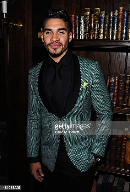 Louis Smith arrives for the London Collections Men Esquire party at the Rosewood London on January 6 2014 in London England