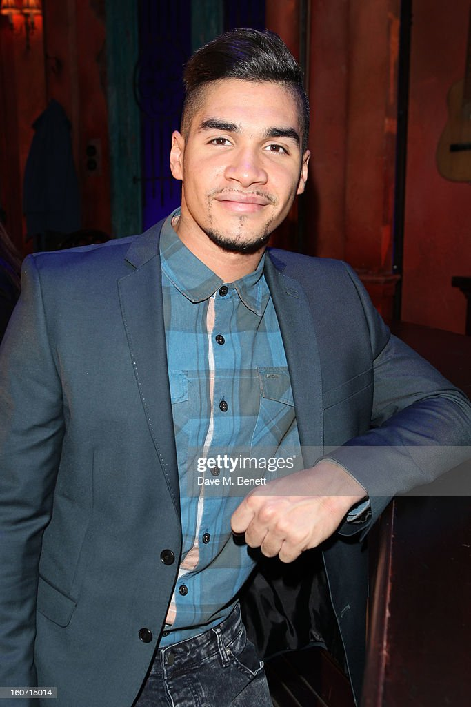 Louis Smith attends opening night of 'Midnight Tango' at the Phoenix Theatre on February 4, 2013 in London England.
