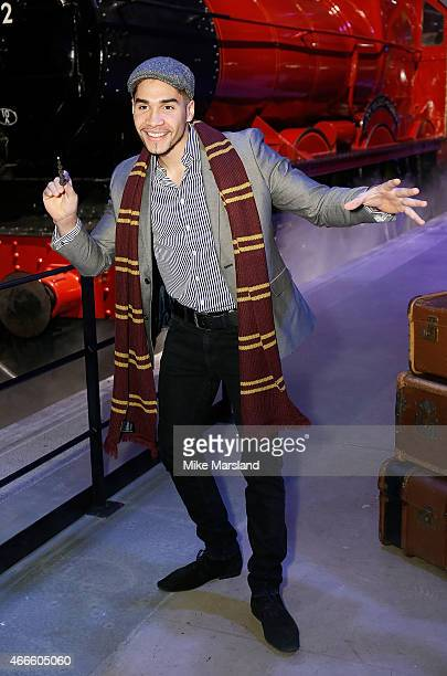 Louis Smith attends the official launch of The Original Hogwarts Express and Platform 9 3/4 at Warner Bros Studio Tour London on March 17 2015 in...