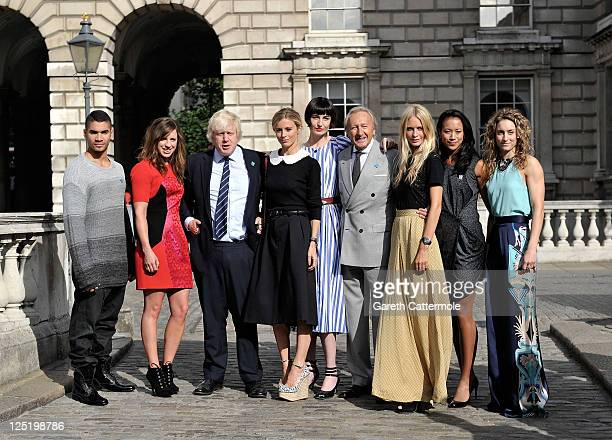 Louis Smith Heather Fell Mayor of London Boris Johnson Laura Baily Erin O'Connor BFC Chairman Harold Tillman CBE Poppy Delevingne Anne Keothavong and...
