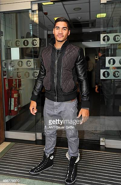 Louis Smith is seen leaving the BBC Radio 1 Studios on September 25 2012 in London United Kingdom