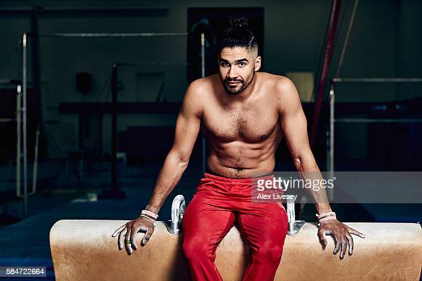 Louis Smith of the British Gymnastics Team poses for a portrait during a training session at Lilleshall National Sports Centre on July 12 2016 in...