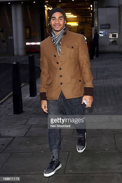 Louis Smith seen at BBC Radio 1 ahead of the Strictly Come Dancing Final on December 21 2012 in London England