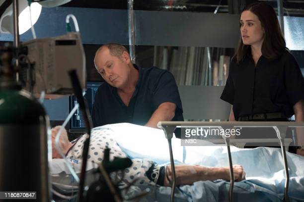 THE BLACKLIST Louis T Steinhil Conclusion Episode 702 Pictured Brian Dennehy as Dominic Wilkinson James Spader as Raymond Red Reddington Megan Boone...