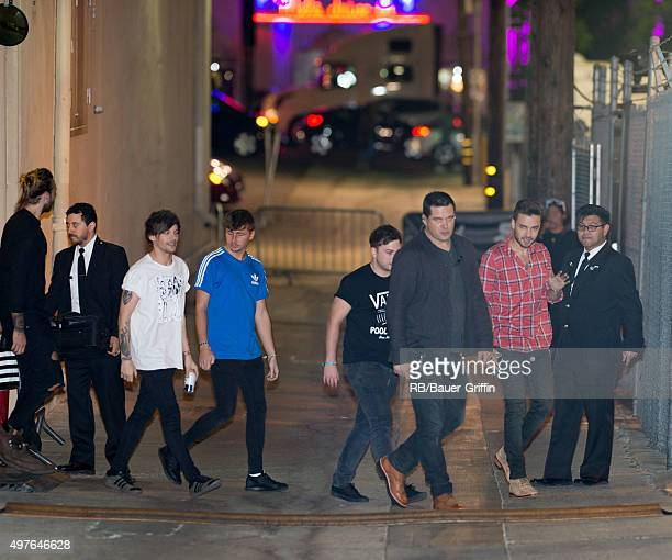 Louis Tomlinson and Liam Payne of the band 'One Direction' are seen at ABC studios in Hollywood on November 17 2015 in Los Angeles California