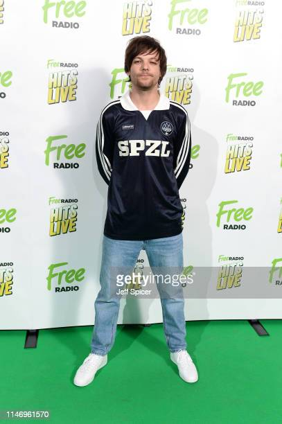 Louis Tomlinson attends the Free Radio Hits Live at Arena Birmingham on May 04 2019 in Birmingham England