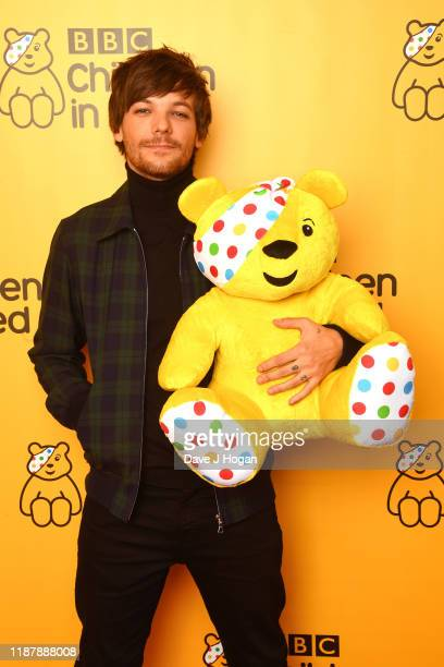 Louis Tomlinson backstage at BBC Children in Need's 2019 Appeal night at Elstree Studios on November 15 2019 in Borehamwood England