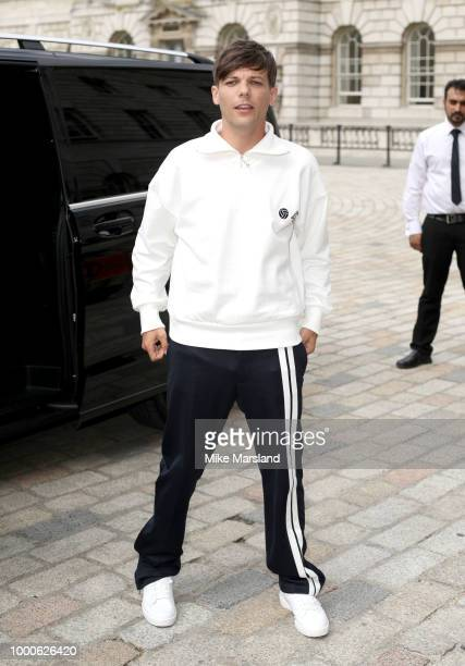 Louis Tomlinson during The X Factor 2018 launch at Somerset House on July 17 2018 in London England