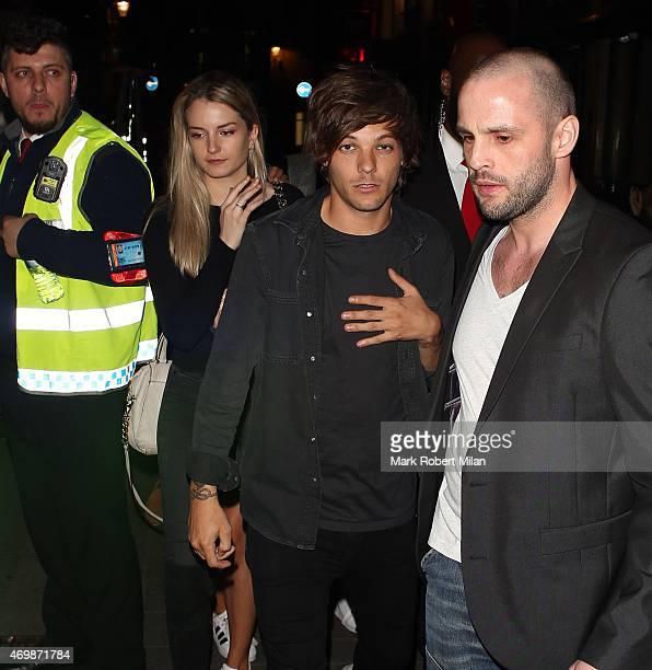 Louis Tomlinson leaving Cirque nightclub on April 15 2015 in London England