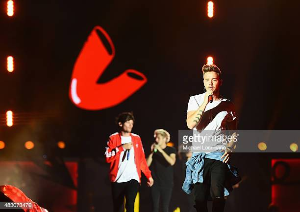 Louis Tomlinson Niall Horan and Liam Payne of One Direction performs at MetLife Stadium on August 5 2015 in East Rutherford New Jersey