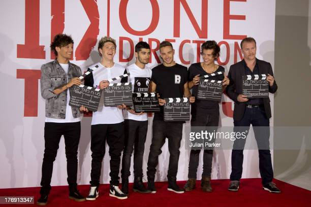 Louis Tomlinson, Niall Horan, Zayn Malik, Liam Payne and Harry Styles of One Direction attend a photocall to launch their new film 'one Direction:...