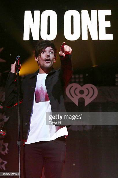 Louis Tomlinson of One Direction performs during 1061 KISS FM's Jingle Ball at American Airlines Center on December 1 2015 in Dallas Texas