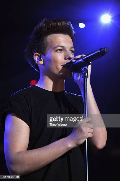 Louis Tomlinson of One Direction performs onstage during Z100's Jingle Ball 2012 presented by Aeropostale at Madison Square Garden on December 7 2012...