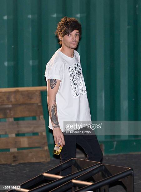 Louis Tomlinson of the band 'One Direction' is seen at ABC studios in Hollywood on November 17 2015 in Los Angeles California