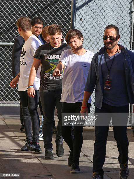 Louis Tomlinson of the band 'One Direction' is seen at 'Jimmy Kimmel Live' on November 19 2015 in Los Angeles California
