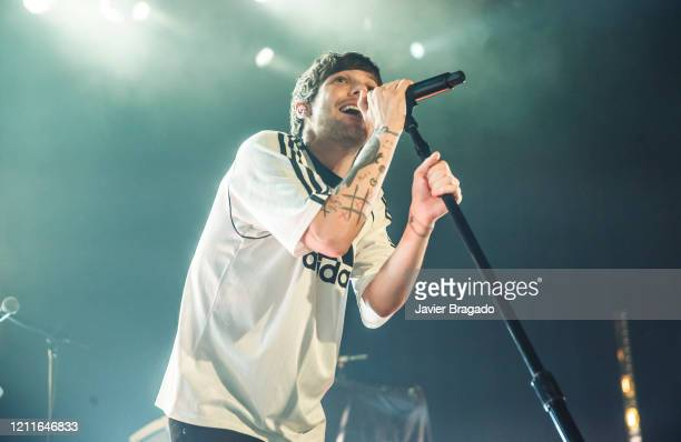 Louis Tomlinson performs in concert at La Riviera on March 10, 2020 in Madrid, Spain.