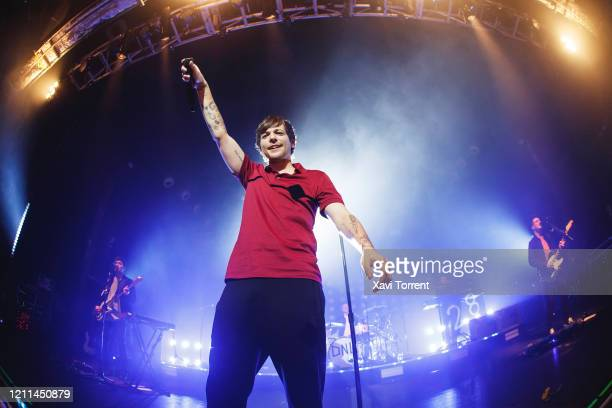 Louis Tomlinson performs in concert at Razzmatazz on March 09, 2020 in Barcelona, Spain.