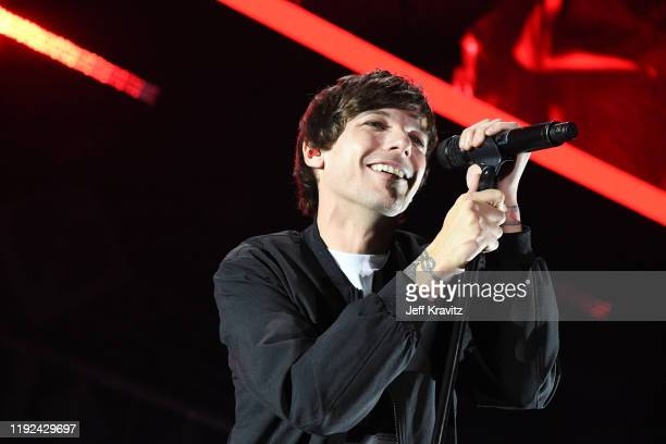 Louis Tomlinson performs onstage during 1027 KIIS FM's Jingle Ball 2019 Presented by Capital One at the Forum on December 6 2019 in Los Angeles...