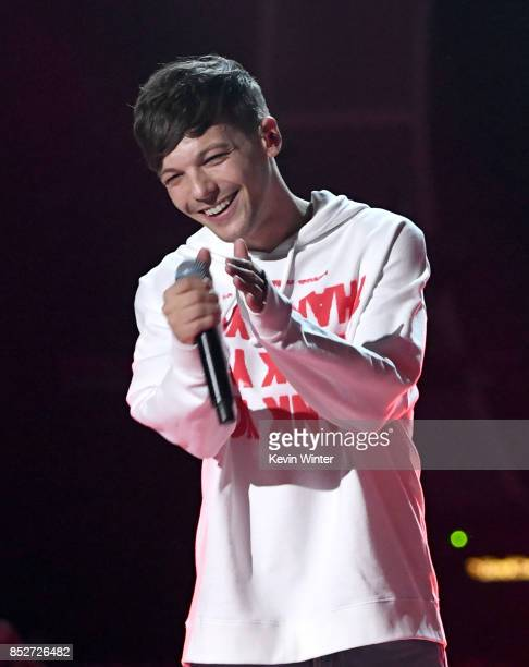 Louis Tomlinson performs onstage during the 2017 iHeartRadio Music Festival at TMobile Arena on September 23 2017 in Las Vegas Nevada