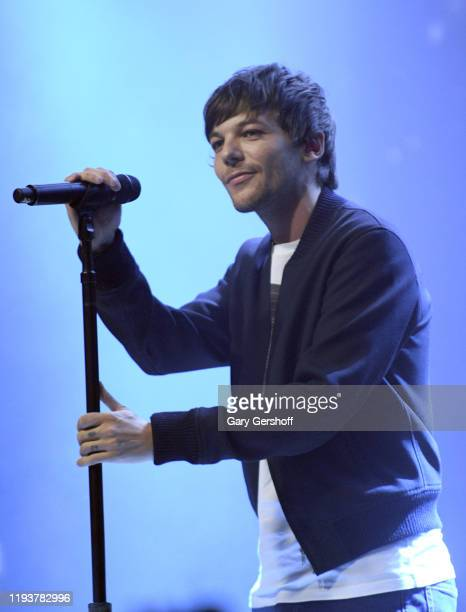 Louis Tomlinson performs onstage during the z100 All Access Lounge presented by Poland Spring Pre-Show at Pier 36 on December 13, 2019 in New York...