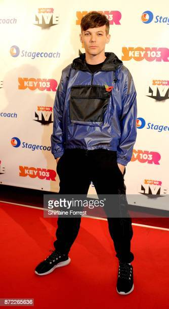 Louis Tomlinson poses at Key 103 Live at Manchester Arena on November 9 2017 in Manchester England