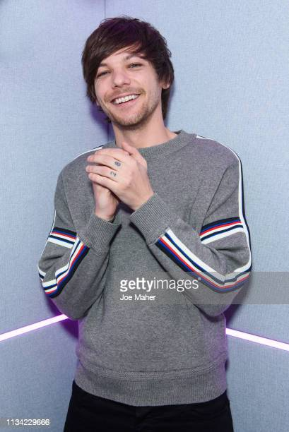 Louis Tomlinson visits at Kiss FM Studio's on March 07 2019 in London England