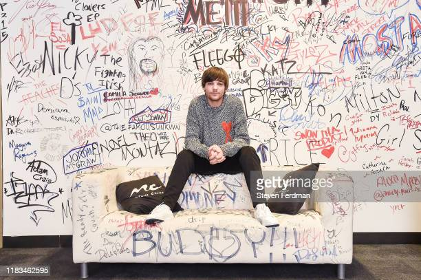 Louis Tomlinson visits Music Choice on October 25, 2019 in New York City.