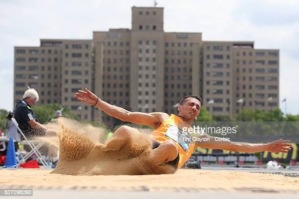 Louis Tsatoumas Greece in action in the Men's Long Jump competition during the Diamond League Adidas Grand Prix at Icahn Stadium Randall's Island...