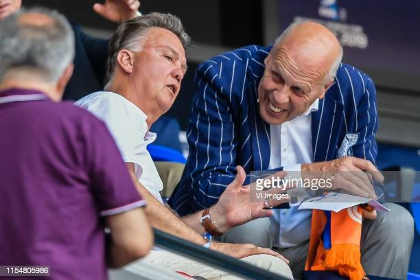 Louis van Gaal, chairman of the supervisory board of the KNVB Jan Smit during the FIFA Women's World Cup France 2019 final match between United...