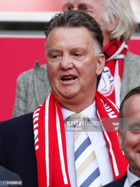 Louis van Gaal during the Dutch Eredivisie match between Ajax Amsterdam and PSV Eindhoven at the Johan Cruijff Arena on March 31, 2019 in Amsterdam,...