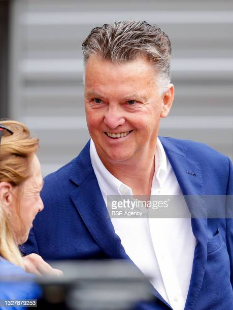 Louis van Gaal during the training session of the Dutch national soccer team women at KNVB Campus on July 3, 2021 in Zeist, Netherlands