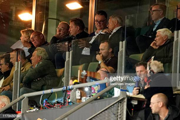 Louis van Gaal during the UEFA Europa League match between AZ Alkmaar v Manchester United at the Cars Jeans Stadium on October 3, 2019 in Den Haag...