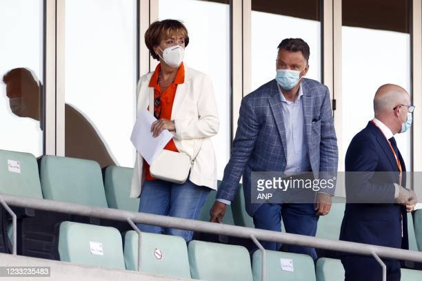 Louis van Gaal in the stands during the friendly match between the Netherlands and Scotland at Estadio Algarve on June 02, 2021 in Almancil,...