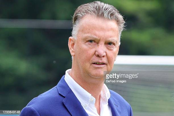 Louis van Gaal looks on during the training session of Netherlands Women at Mac3Park Stadium on July 03, 2021 in Zwolle, Netherlands.