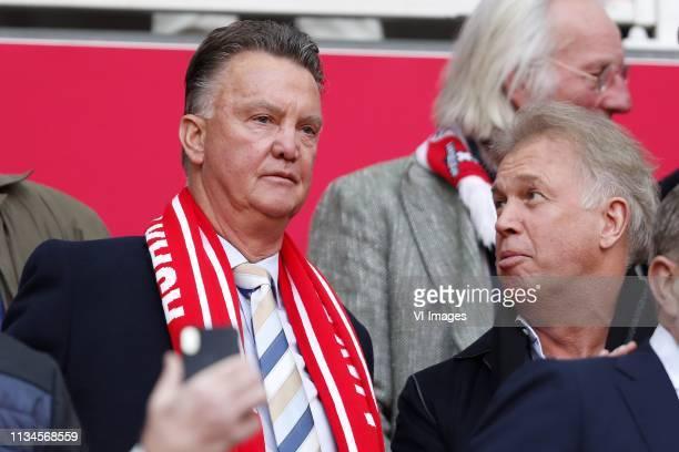 Louis van Gaal, Marcel Boekhoorn during the Dutch Eredivisie match between Ajax Amsterdam and PSV Eindhoven at the Johan Cruijff Arena on March 31,...