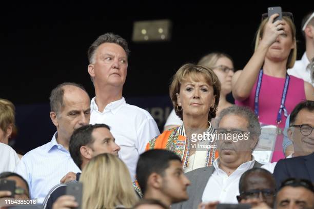 Louis van Gaal, Truus van Gaal during the FIFA Women's World Cup France 2019 final match between United States of America and The Netherlands at...
