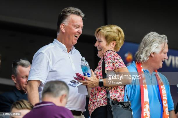 Louis van Gaal, Vera Pauw during the FIFA Women's World Cup France 2019 final match between United States of America and The Netherlands at Stade de...