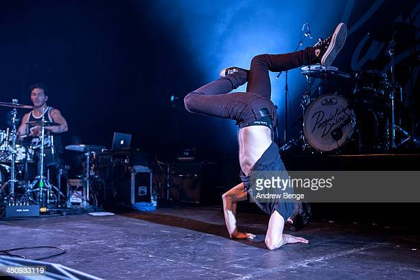 Louis Vecchio and David Boyd of New Politics perform on stage at Manchester Arena on November 20 2013 in Manchester United Kingdom
