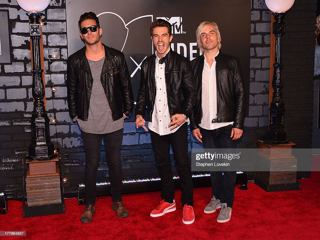 Louis Vecchio, David Boyd and Soren Hansen attend the 2013 MTV Video Music Awards at the Barclays Center on August 25, 2013 in the Brooklyn borough of New York City.