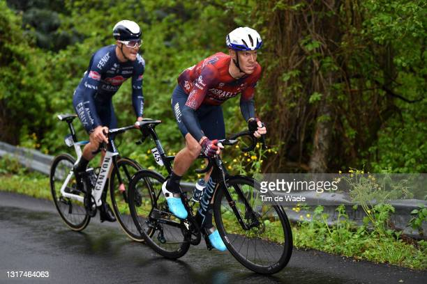 Louis Vervaeke of Belgium and Team Alpecin-Fenix & Alessandro De Marchi of Italy and Team Israel Start-Up Nation in the Breakaway during the 104th...