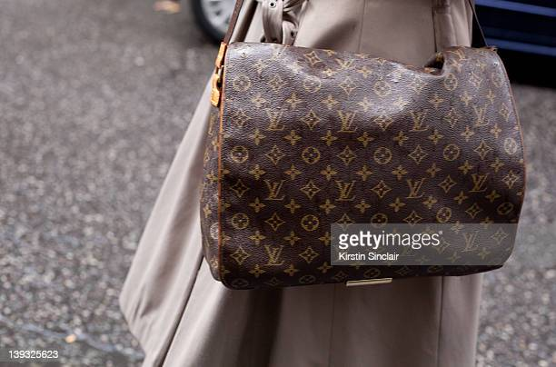 Louis Vuitton bag at London fashion week autumn/winter 2012 womenswear shows on February 18 2012 in London England